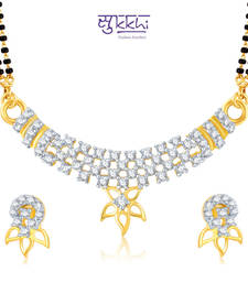 Sukkhi Fancy Gold and Rhodium Plated Cubic Zirconia Stone Studded Mangalsutra Set(14010MSCZK950) shop online