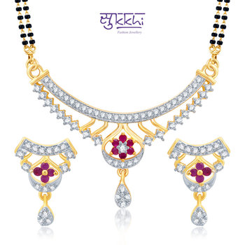 Sukkhi Resplendent Gold and Rhodium Plated Cubic Zirconia Stone Studded Mangalsutra Set(14031MSCZK1550)