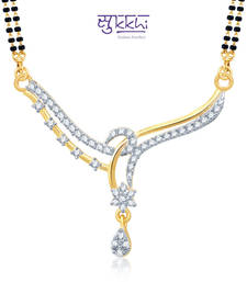 Sukkhi Attractive Gold and Rhodium Plated Cubic Zirconia Stone Studded Mangalsutra Set(14033MSCZK1400)
