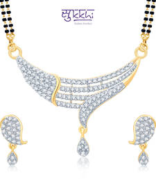 Sukkhi Sublime Gold and Rhodium Plated Cubic Zirconia Stone Studded Mangalsutra Set(14047MSCZK1750) shop online