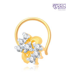 Buy Sukkhi Incredible Gold and Rhodium Plated CZ Nose Pin(36002NPCZK200) nose-ring online