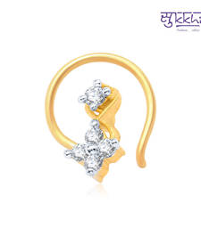 Buy Sukkhi Beguilling Gold and Rhodium Plated CZ Nose Pin(36040NPCZK200) nose-ring online