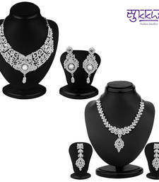 Buy Sukkhi Luxurious 2 Piece Necklace Set Combo(198CB3300) jewellery-combo online