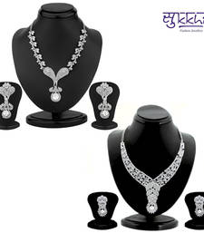 Buy Sukkhi Estonish 2 Piece Necklace Set Combo(210CB3050) jewellery-combo online