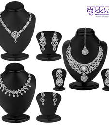Buy Sukkhi Fascinating 3 Piece Necklace Set Combo(220CB4500) necklace-set online