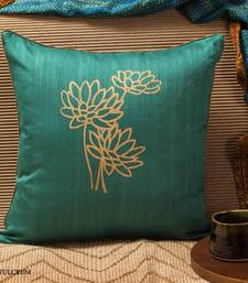 Buy Cushion cover - Teal print pillow-cover online