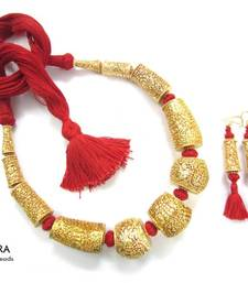 Buy Gheru Fusion RED Necklace  necklace-set online