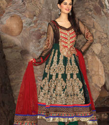Buy Hypnotex Green Pure georgette Dress Material Sherry6511 dress-material online