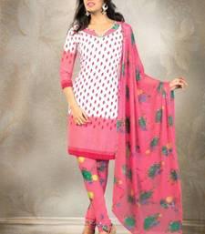 Buy Elegant Crepe Designer Printed Unstitched Dress Material Suit D.No 8161 dress-material online