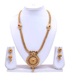 Buy Long Necklace Set Indian Gold Plated Jewellery necklace-set online