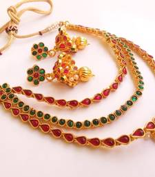 Buy Gorgeous multicolor kemp layer necklace set necklace-set online