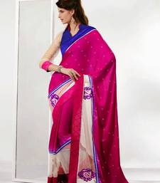 Buy Pink Color Net & Satin Saree DCS34023 satin-saree online