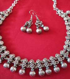 Buy Oxidized Ball necklace necklace-set online