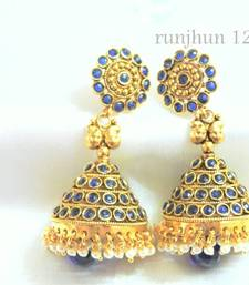 Buy royal blue big jhumkaas jhumka online