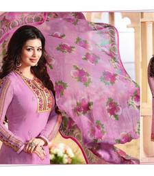 Buy Pink embroidered Georgette semi stitched salwar with dupatta ayesha-takia-salwar-kameez online