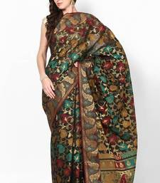 Buy Organza silk stripe fancy multi bnarasi saree organza-saree online