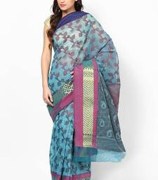 Buy Cotton Silk Stripe Fancy Banarasi Saree cotton-silk-saree online