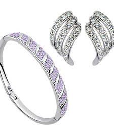 Buy Diwali Discount Offers - Crystal bracelet and earrings Combo diwali-discount-offer online