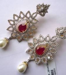 Buy Vatika AD Earrings-DSC04690 danglers-drop online