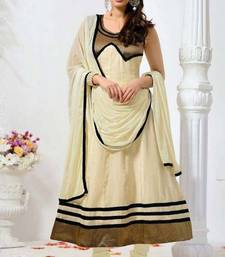 Buy Evelyn Sharma Off White Cotton Anarkali Suit anarkali-salwar-kameez online