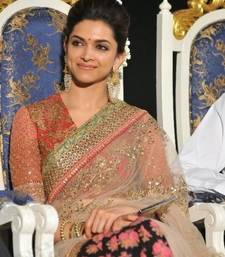 Buy Deepika Padukone Half Half saree At music Launch party deepika-padukone-saree online