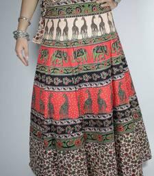 Buy Block print wrap around skirt skirt online