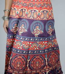 Buy Desi print wrap around midi skirt navratri-skirt online
