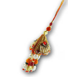 Buy Pearl Lumba Rakhi gifts-for-brother online