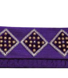 Buy Bridal Embroidery Clutch in Lavender clutch online