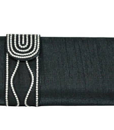 Buy Sultry Designer Clutch in Black clutch online