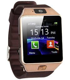Buy Dark Brown Square Dial Bluetooth Smart Watch With Camera and Sim Card watch online