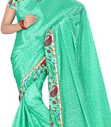 Buy beautiful green crepe-saree online
