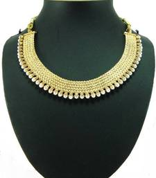 Aria Choker style pearl gold tone necklace set a8 shop online