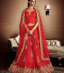 Buy pink embroidered silk lehenga with dupatta ghagra-choli online