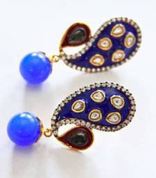 Buy Blue Pear & Drop Earrings danglers-drop online