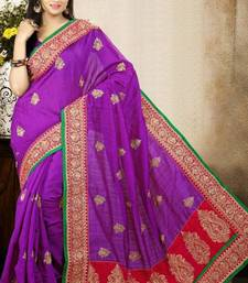 Buy Superb Purple Color Bhagalpuri Silk Saree with Blouse bhagalpuri-silk-saree online