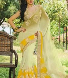 Buy Chiffon, Silvar Gota Work     Pat2209 chiffon-saree online
