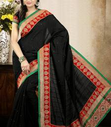 Buy Elegant Black Color Bhagalpuri Silk Saree with Blouse 	 bhagalpuri-silk-saree online