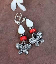 Buy Silver Butterfly Earrings danglers-drop online