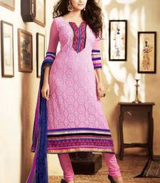 Buy Beautiful Pink Georgette Salwar semi-stitched-salwar-suit online