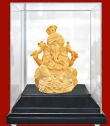 Buy Gold Feta Ganesha Idol g12goldfetaganesh ganesh-chaturthi-gift online