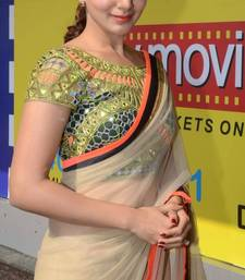 Buy Bollyywood samantha Mirror work Blouse saree other-actress-saree online