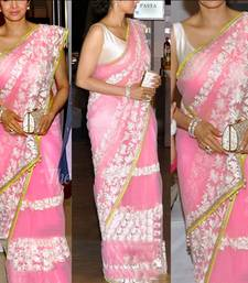 Buy Indian Replica Ethnic Shri Devi Pink Net Saree sridevi-saree online