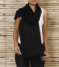 Buy Black Pure Silk Stole shawl online