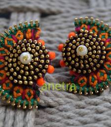 Buy quirky to fun- embroidered studs stud online
