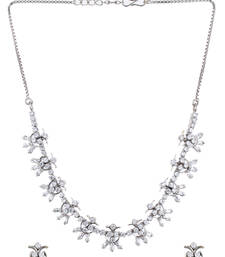Buy american_diamonds Silver necklace-sets necklace-set online