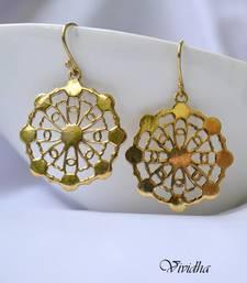 Buy Dainty Antique Gold Finish Earrings danglers-drop online