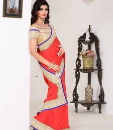 Buy Saraswati Glomour party wear saree art-silk-saree online