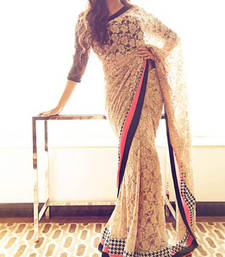 Buy Asin in Chikan net  Saree other-actress-saree online
