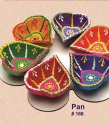 Buy Handmade earthen Pan Diya set of 6. 168rp pot online
